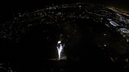 4th of July Fireworks aerial video