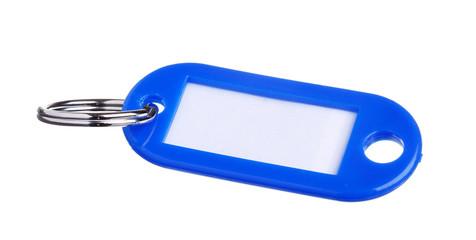 Blå nyckelring