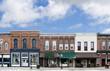 Leinwanddruck Bild - Small Town Main Street