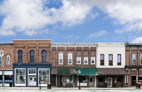 Leinwanddruck Bild Small Town Main Street