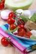 Pomodorini ,tonno e mozzarella