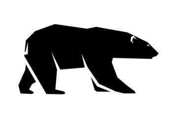abstract silhouette of a polar bear