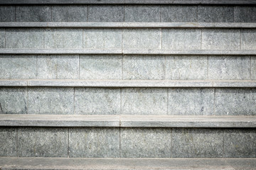 detail of gray granite stairs