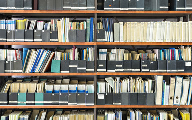 Old books and journals in scientific library