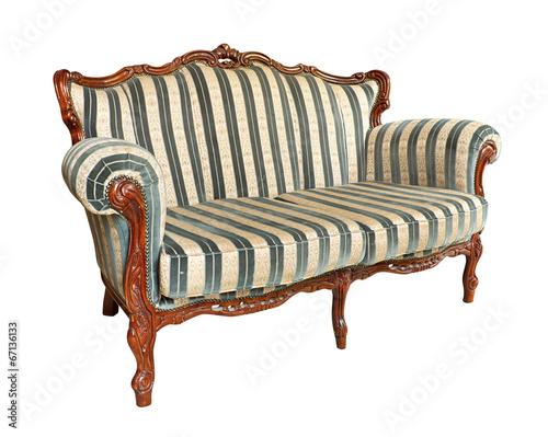 Antique velvet couch - 67136133