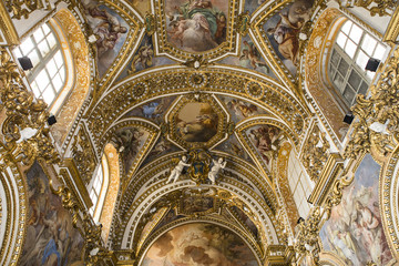 Interiors of San Paolo Maggiore church, Naples, campania, Italy