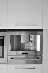 Modern kitchen and coffee machine