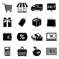 Shopping Icon Set.