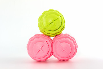Colorful of washing ball, plastic balls.