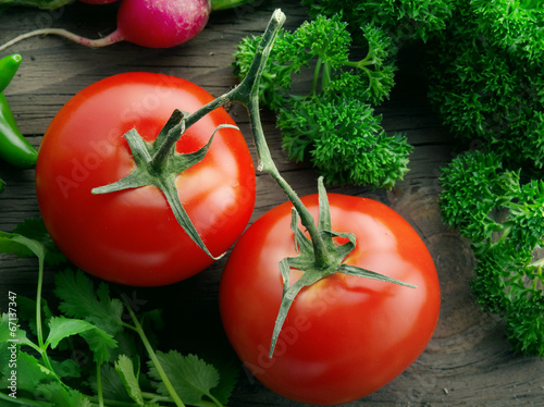 canvas print picture tomatoes