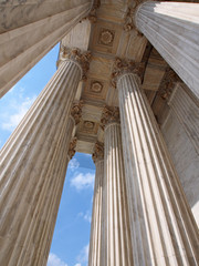 Marble columns of US Supreme Court