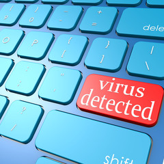Virus detected  keyboard