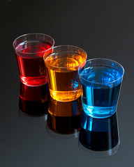 Abstract shot glasses