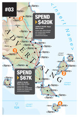 Map Infographic Advertising
