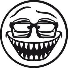 Professor Forscher Nerd Geek Hornbrille