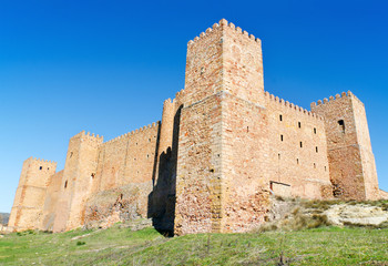 Sigüenza castle, old fortress Guadalajara, Spain.