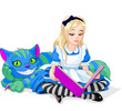 Постер, плакат: Alice and Cheshire Cat