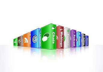 social media concept - chats