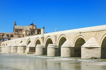 Mosque, Roman bridge and Guadalquivir river, Cordoba, Spain.