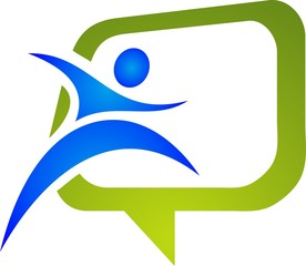 social logo of people in action icons