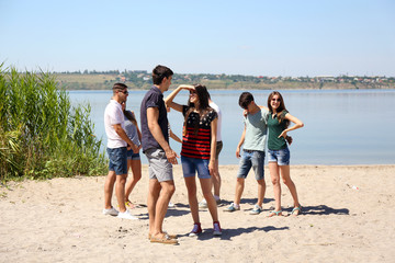 Group of friends at beach
