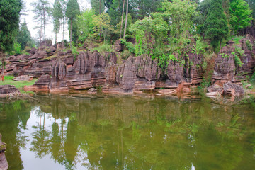 Red rocks of Zhangjiajie. China.