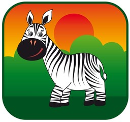 zebra vector hand drawn