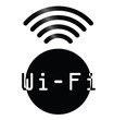 Monochrome WiFi symbol sign