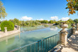 Beautiful Lake at Aranjuez royal palace garden.