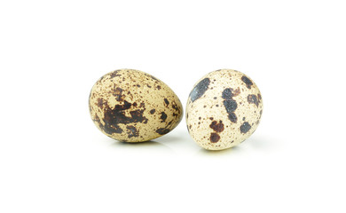 quail egg isolated over white