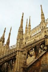 ミラノのドゥオモの部分拡大