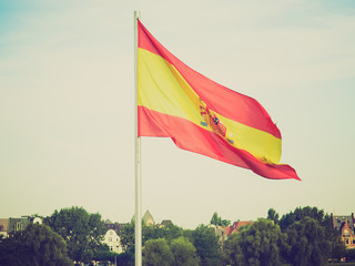 Retro look Flag of Spain