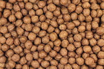 delicious chocolate balls abstract background
