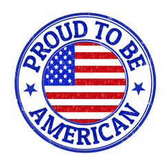 Proud to be american stamp