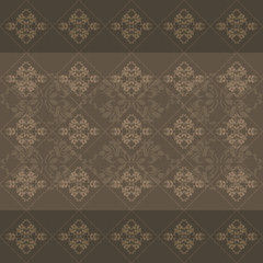 Seamless dark brown ornamental background