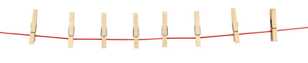 pinces à linge sur corde d'étendage