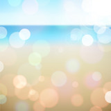 Fototapety Summer holiday tropical beach background