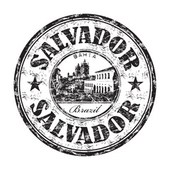 Salvador grunge rubber stamp