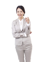 asian businesswoman, isolated on white