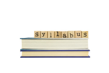 syllabus word on wood stamps and books