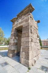 Debod Temple. Ancient egyptian temple in Madrid.