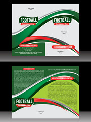Bi Fold Football Brochure Template