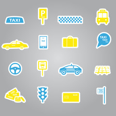 taxi stickers set eps10