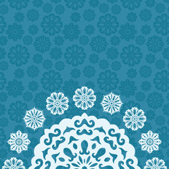 Christmas background with snowflakes and place to text