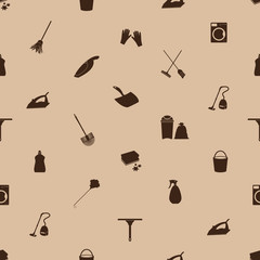cleaning icons seamless pattern eps10