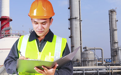 Image of oil refinery engineer