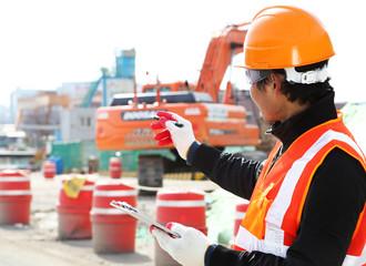 Builder engineer at work