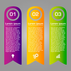 Colorful ribbons design, customizable business templates