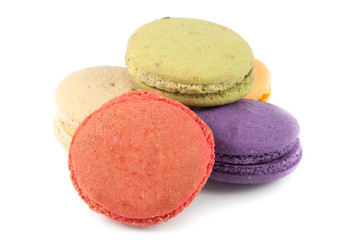 close up colorful macaron