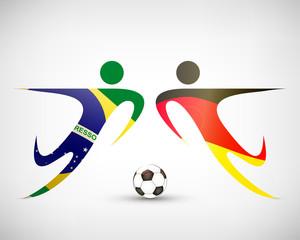 Fußball - Deutschland gegen Brasilien